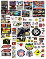 1:18 1:24 Drag Racing 3 Decals For Diecast And Model Cars Dioramas