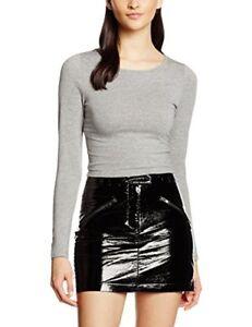 8e2d9387c07 New Look CE Scoop LS Crop Top Tee Grey Bnwt - New - UK Size 14 | eBay