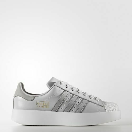 Adidas CG3694 Women Superstar Bold Running shoes grey white sneakers