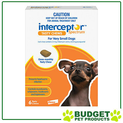 Interceptor Spectrum For Dogs 6 chews - All Sizes