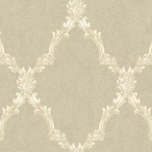 Wallpaper-Traditional-Acanthus-Leaf-Lattice-Oyster-Pearl-Off-White-Sand-Beige