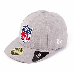 New-Era-NFL-Logo-59fifty-Gorra-Ajustada-Gorra-Gorra-Heather-Gris-93596