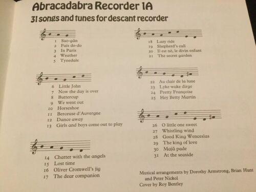 sheet music Abracadabra Recorder 1A