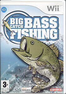 BIG-CATCH-BASS-FISHING-Nintendo-Wii-NUOVO-SIGILLATO-EDIZIONE-ITALIANA