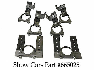 1958,59,60,61,62,63,1964 CHEVY IMPALA SS BEL AIR UNIVERSAL EXHAUST BRACKET SET