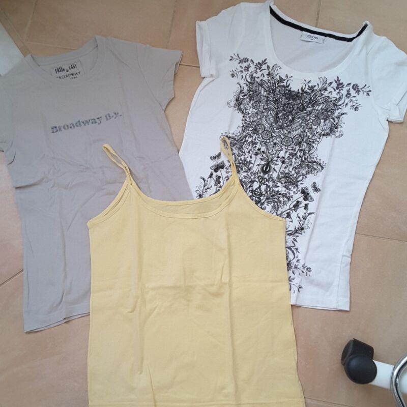Vereinigt Zwei Kurzarm-shirts Gr. 38 Und 1 Trägertop Kunden Zuerst