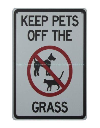 keep pets off the grass metal tin sign garden made reproductions