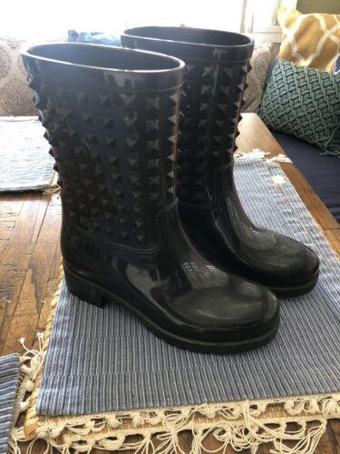Valentino Rockstud Rain Boot