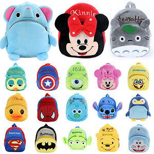 584b252174 Image is loading Infant-Kids-Children-Boys-Girls-Cartoon-Backpack-Schoolbag-
