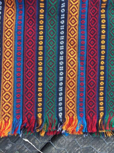 Handwoven Turkish Kurdish Authentic Scarves Madder Fabric Home Deco Item