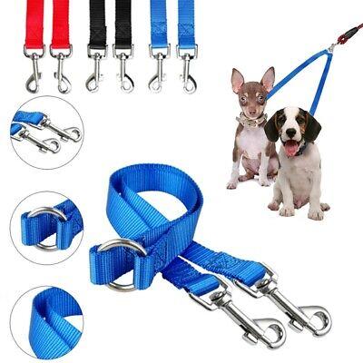 Nylon Dog Coupler Leash Lead 2 Way Dual Double Pet Leash No Tange Walking