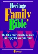 Heritage Deluxe Family Bible, Excellent Books