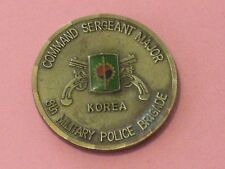 US United States Army 8 Military Police Brigade Korea SGT Major Challenge Coin