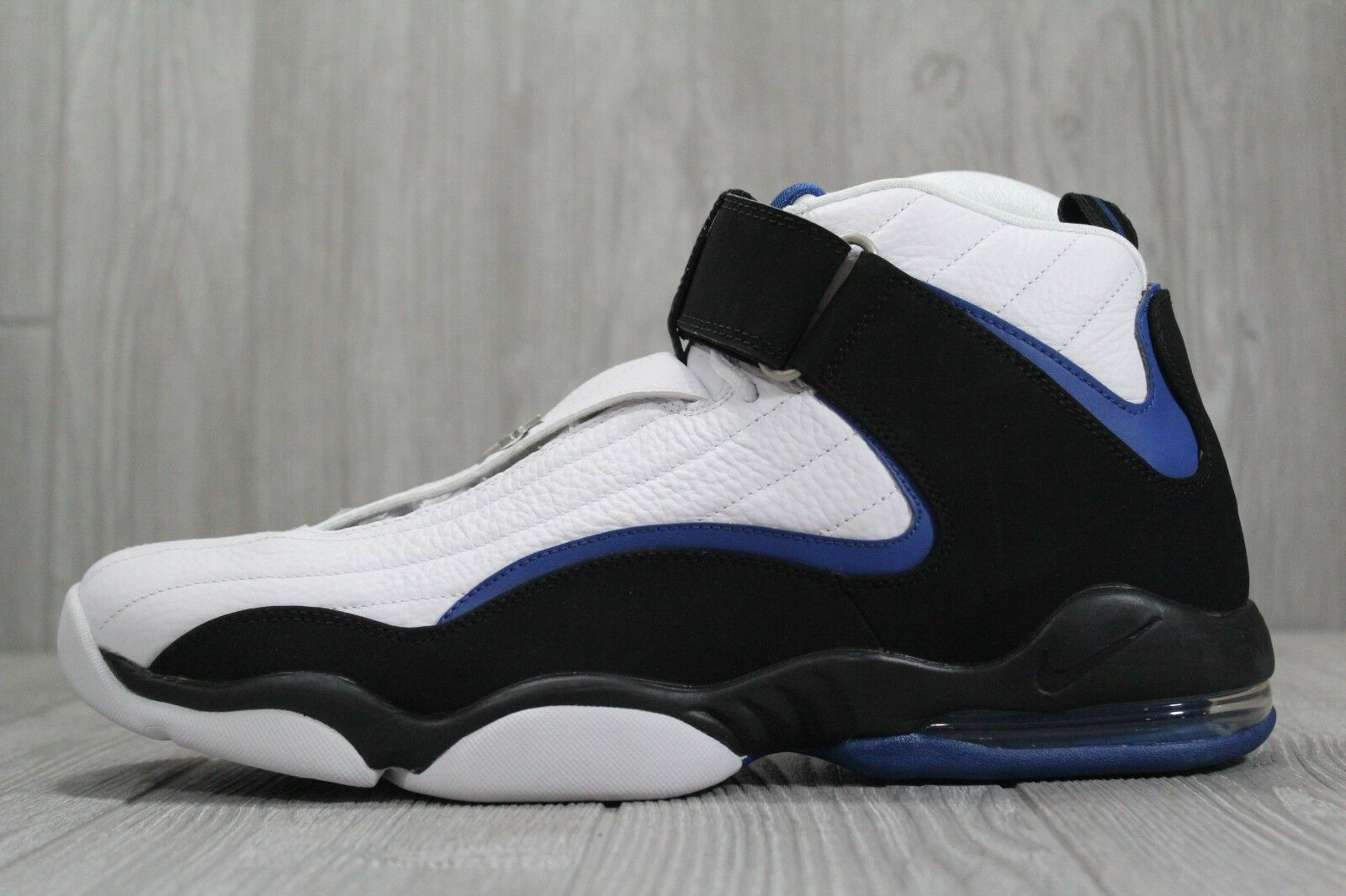 35 Nike Air Penny IV 864018-100 Orlando Home Black Atlantic bluee White shoes 14