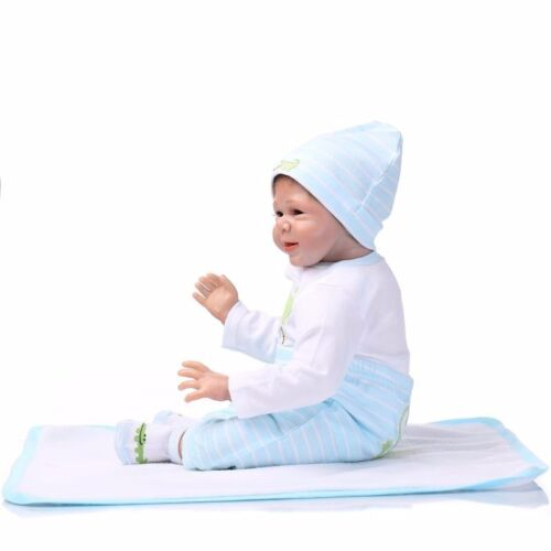 22/'/'Handmade Lifelike Baby Boy Girl Silicone Vinyl Reborn Newborn Dolls Clothes