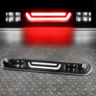 FOR 07-14 CHEVY SILVERADO 3D C-BAR TAIL+LED 3RD THIRD BRAKE//CARGO LIGHT BLACK