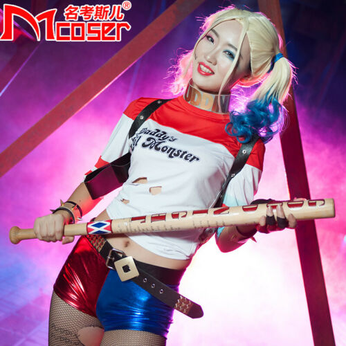 Harley Quinn Replica Baseball Bat Suicide Squad Weapon Costume Cosplay Wood