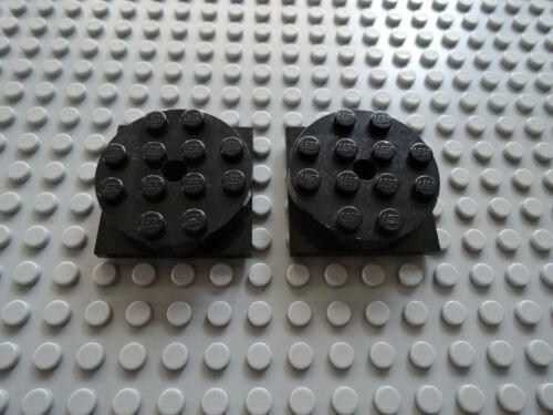 Lego 2 x Platte Stein Drehteller 3403c01 schwarz  4x4 3403//3404