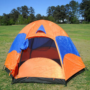 CLEARANCE-Large-Family-Camping-Hiking-Double-Layers-Tent-w-Rainfly-Mesh-Screen