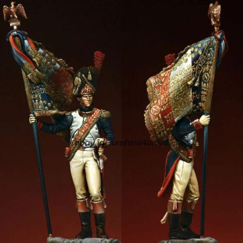 1:24 75MM British Guards Resin Figure Model Flag-Bearer