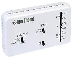 New Dometic    Duo       Therm       Duo      Therm    Heat Cool Furnace    Thermostat    Analog    3106995   032   eBay