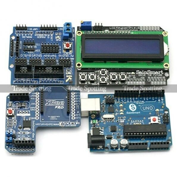 SainSmart UNO + Xbee + LCD 1602 Keypad + Sensor Shield V5 Kit For Arduino R3