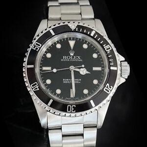 7cd96d6f0ca A imagem está carregando Rolex-Submariner-masculino -de-aco-inoxidavel-banda-Ostra-