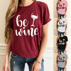 Plus-Size-Women-T-Shirt-Print-Short-Sleeve-Tops-Round-Neck-Loose-Basic-Blouse