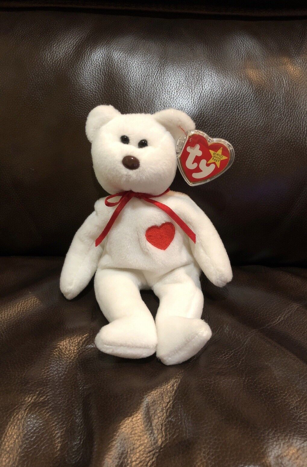 Extremely Rare  VALENTINO 1993 TY INC Beanie Baby with Swing Tag Errors