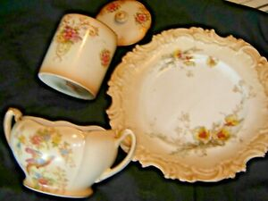 CROWN-DUCAL-LOUIS-HONEY-JAM-POT-WITH-LID-AND-DOULTON-PLATE-ETC