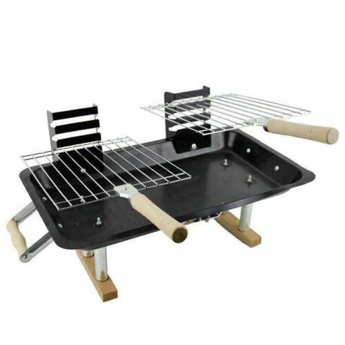 BBQ BARBECUE GRILL PORTABLE FOLDING CHARCOAL CAMPING OUTDOOR GRADEN TRAVEL NEW