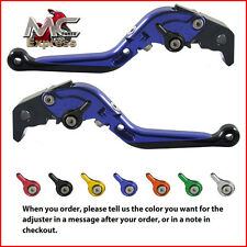 Folding Extendable Adjustable Levers Suzuki SFV650 GLADIUS 2009 - 2015 Blue