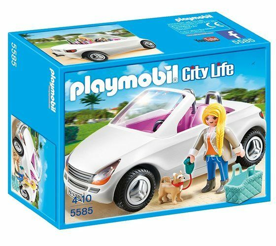 New PLAYMOBIL Set No. 5585 City Life Congreenible with Woman & Puppy