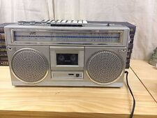 VINTAGE JVC RC-555JW AM/FM Stereo RadioBoombox Cassette Tape Recorder As Is