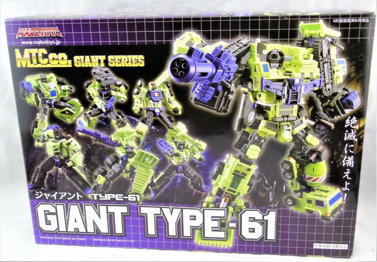 Transformers Transformers Transformers 3rd Party Make Toys Giant Type 61 Yellow Complete w  Box 0c3e08