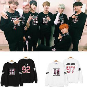 KPOP-BTS-In-Bloom-Sweatershirt-RUN-Hoodie-Bangtan-Boys-Sweater-Pullover