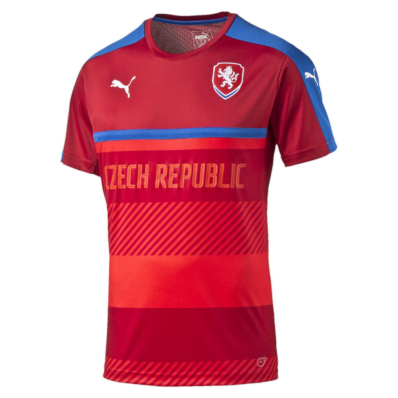 Puma Czech Republic UEFA Euro 2016 Soccer Training Jersey New ROT