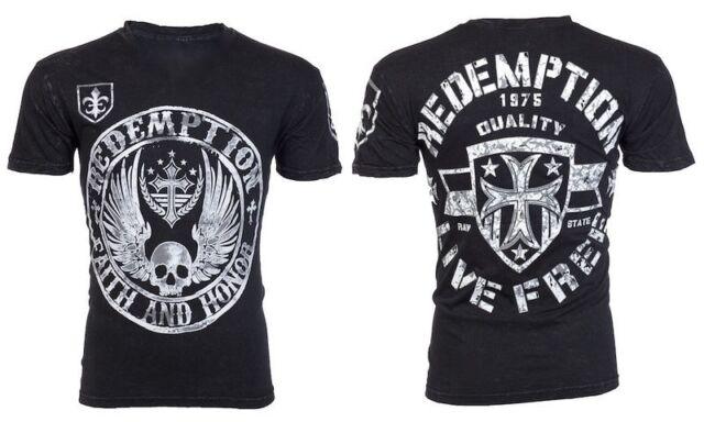 Archaic AFFLICTION Men T-Shirt MIDKNIGHT American Custom Fighter Biker S-3XL $40