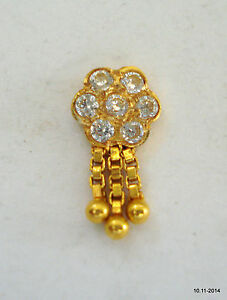 18k Traditional Design Gold Nose Stud Nosepin Rajasthan India Ebay