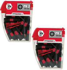 Milwaukee  Gen 3 Shockwave Impact Duty PH2 50mm Drill  Bits Pack Of 10 - 2 packs