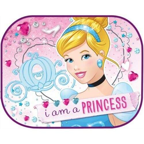 2x Car Sun Shades UV Children Baby Kids Disney I am a Princess