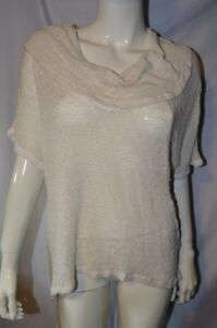 Eyeshadow-Plus-Short-Sleeve-White-Top-size-1X-Lightweight-Knit-Gold-Shimmer