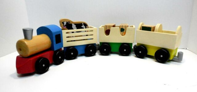 Everearth Train Table And Farm Set For Sale Online Ebay