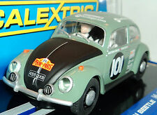 Scalextric Volkswagen Beetle Peking Paris With Headlights & DPR Ready 1/32 C3361