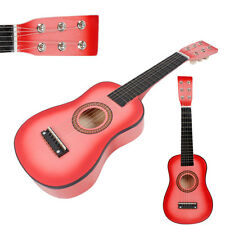 """New 23"""" 15 Frets Beginners Practice Acoustic 6 String Children Kids Guitar Pink"""