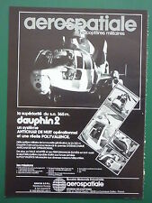 2/1982 PUB AEROSPATIALE HELICOPTERE SA 365 M DAUPHIN 2 ALAT ORIGINAL FRENCH AD