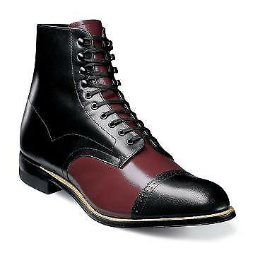 Stacy Adams Para Hombre Madison Puntera Borgoña Multi Cuero botas 00015-641