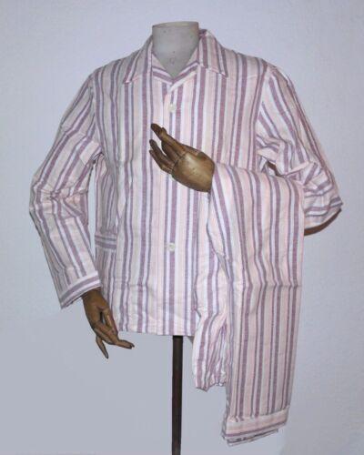 Dreiklang Herren Schlafanzug 48 Pyjama DDR 80er TRUE VINTAGE 80s VEB Nachtwäsche
