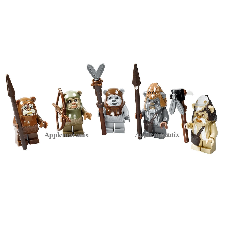Star Wars Lego 10236 Village Completa Ewok Set Minifiguras Figuras Teebo Wicket
