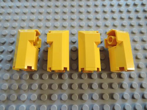 Lego 4 x Säule Stütze Octagonal 6043 gelb  2x2x3  1822 6195 6199